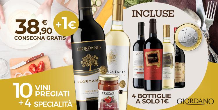 Giordano Vini 4 vini a 1 euro