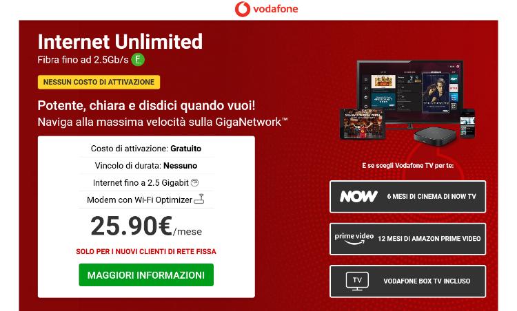 Internet Unlimited, Fibra fino ad 2.5Gb/s!